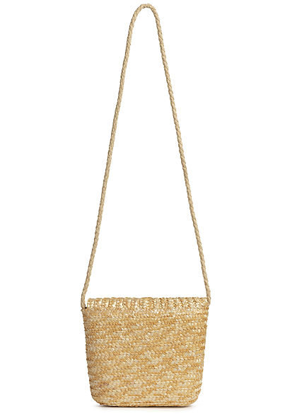Hailys Damen Mini Papier Handtasche 1-Pocket 20x20cm beige