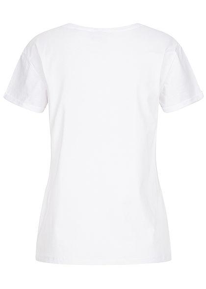 Hailys Damen T-Shirt Bambi Print weiss rot braun
