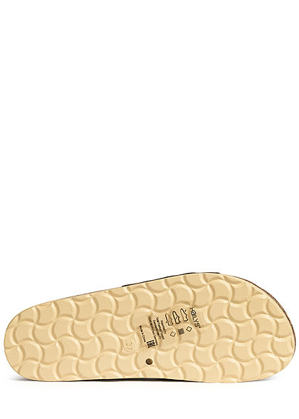 Hailys Damen Schuh Sandale Kunstleder Schlangenhaut Optik cognac braun
