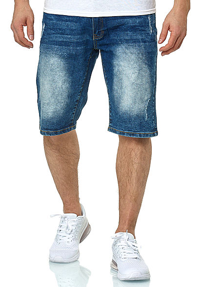 Southpole TB Herren Jeans Shorts 5-Pockets Destroy Look mid sand blau
