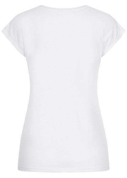 Hailys Damen T-Shirt Enjoy Pailletten weiss kupfer
