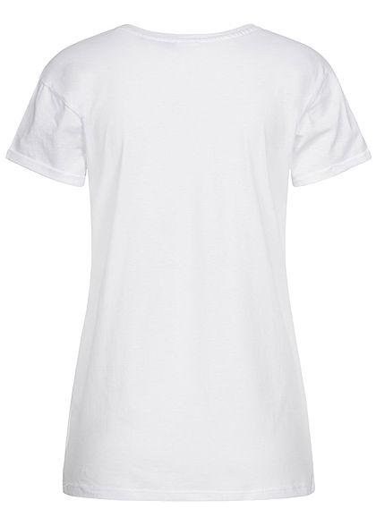 Hailys Damen T-Shirt König der Löwen Print weiss mc