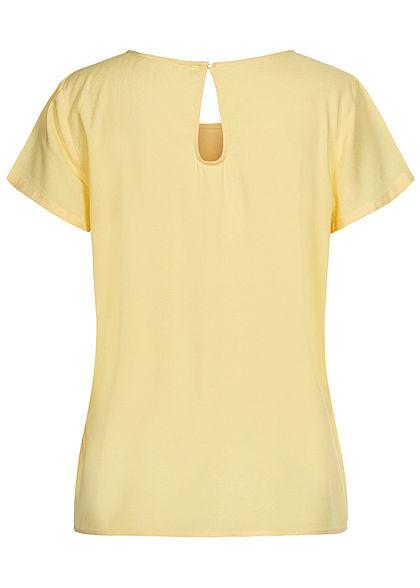 ONLY Damen NOOS Solid Blusen Shirt pineapple slice gelb