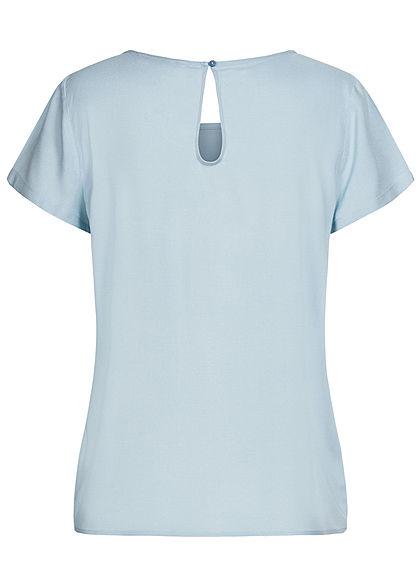 ONLY Damen NOOS Solid Blusen Shirt cashmere blau