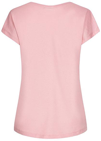 Stitch and Soul Damen T-Shirt Love is blind Print milchshake rosa