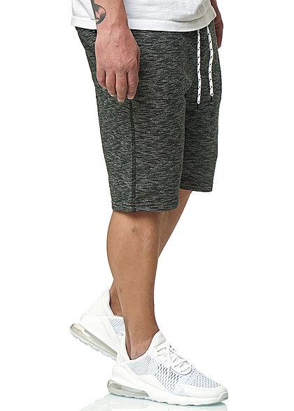 Hailys Herren Melange Sweat Shorts 4-Pockets anthrazit