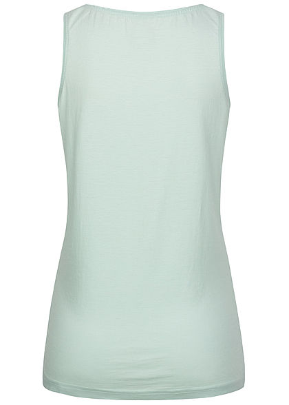 Stitch and Soul Damen Tank Top Paradise Wave Print clear water türkis