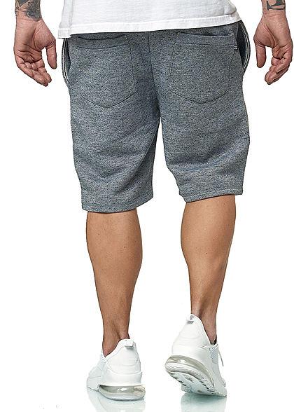 Hailys Herren Melange Sweat Shorts 4-Pockets Tunnelzug navy blau