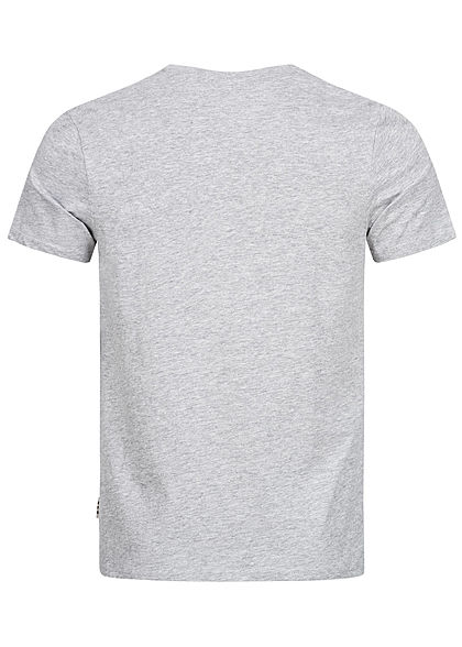 Eight2Nine Herren T-Shirt Print Affe grau melange