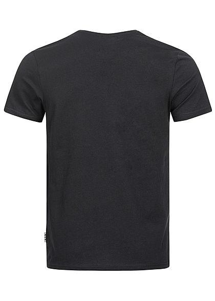 Eight2Nine Herren T-Shirt Print Affe schwarz
