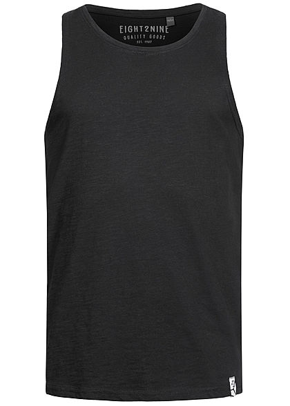 Eight2Nine Herren Tank Top schwarz