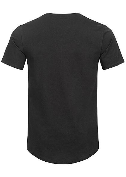 ONLY & SONS Herren NOOS Longform T-Shirt schwarz