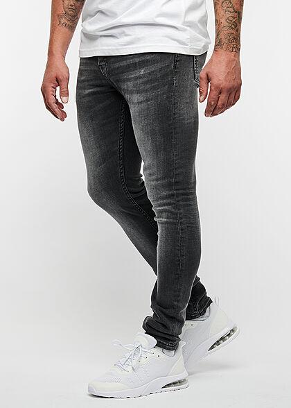 ONLY & SONS Herren NOOS Jeans Hose Slim Fit 5-Pockets washed schwarz denim