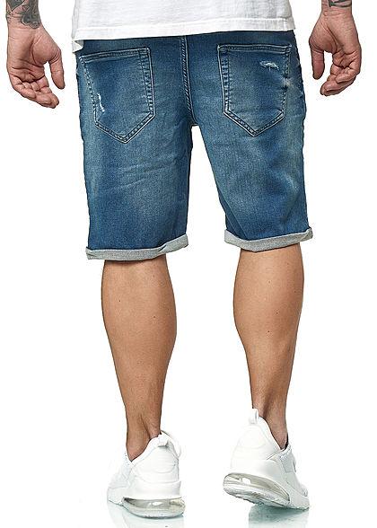 ONLY & SONS Herren NOOS Bermuda Jeans Shorts 5-Pockets Destroy Look blau denim