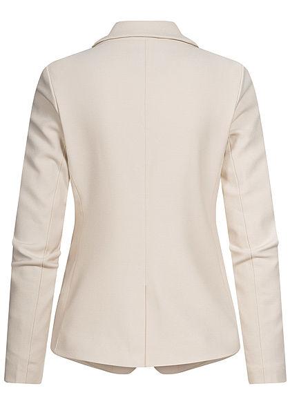 ONLY Damen Blazer 2-Pockets Strukturstoff whitecap gray beige
