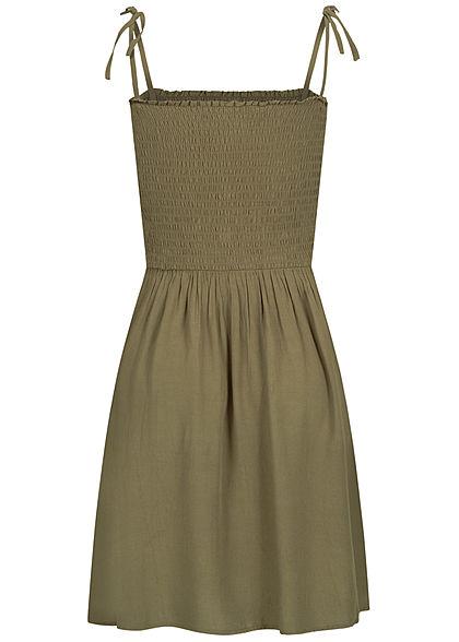 ONLY Damen NOOS Bandeau Träger Kleid Deko Knopfleiste kalamata oliv grün