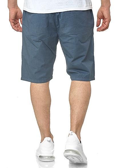 Seventyseven Lifestyle TB Herren Chino Shorts 4-Pockets inkl. Gürtel vintage blau