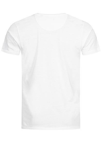 Brave Soul Herren T-Shirt nahtlose Ärmel und Ausschnitt weiss
