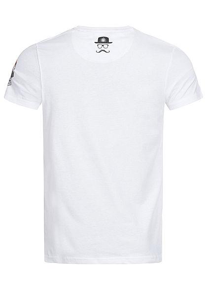 Brave Soul Herren T-Shirt Affen Print optic weiss