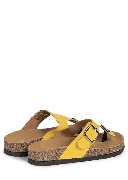 Seventyseven Lifestyle Damen Schuh Sandale Zehensteg gelb