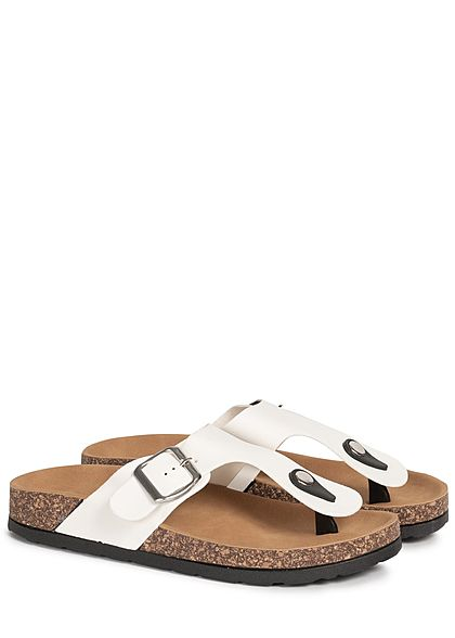 Seventyseven Lifestyle Damen Schuh Sandale Zehensteg weiss