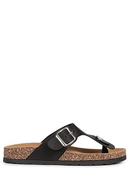 Seventyseven Lifestyle Damen Schuh Sandale Zehensteg schwarz