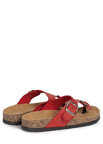 Seventyseven Lifestyle Damen Schuh Sandale Zehensteg rot