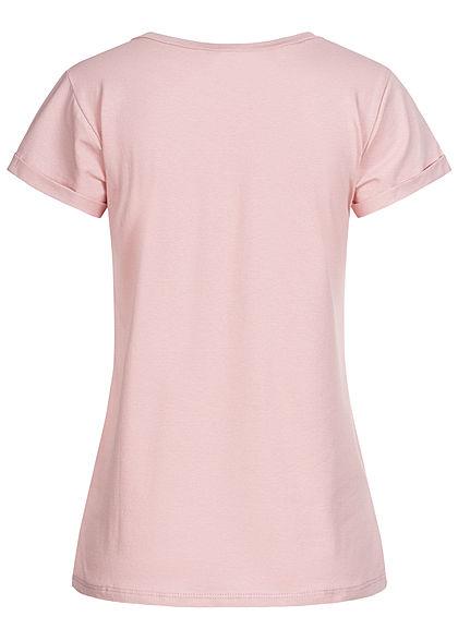 Fresh Tee Damen T-Shirt Mama Lama Print rosa