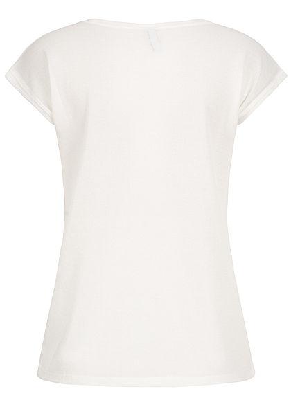 Seventyseven Lifestyle Damen Lurex T-Shirt weiss