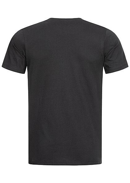 Jack and Jones Herren T-Shirt Logo Print Slim Fit schwarz