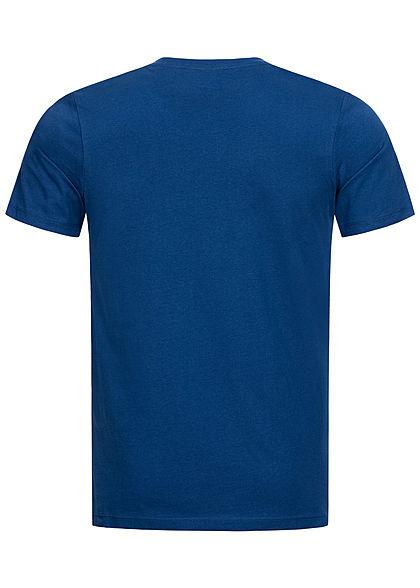 Jack and Jones Herren T-Shirt Logo Print Slim Fit navy peony blau