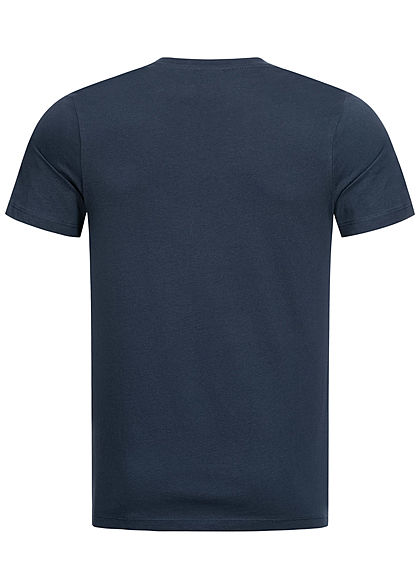 Jack and Jones Herren T-Shirt Logo Print Slim Fit sky captain blau