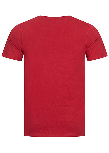 Jack and Jones Herren NOOS O-Neck T-Shirt Logo Print rio rot weiss