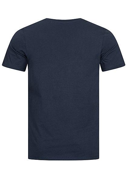 Jack and Jones Herren NOOS O-Neck T-Shirt Logo Print navy blazer blau weiss