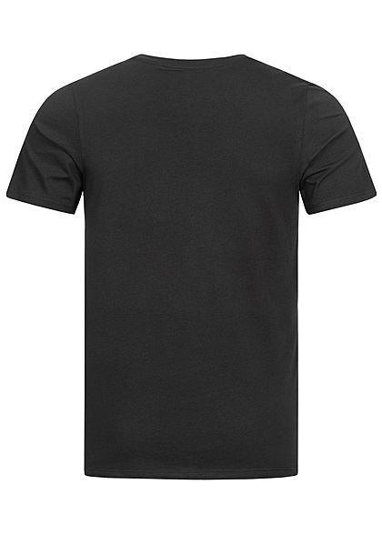 Jack and Jones Herren NOOS O-Neck T-Shirt Logo Print schwarz weiss