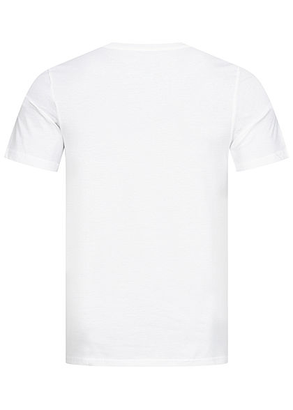 Jack and Jones Herren Crew Neck T-Shirt Logo Print weiss rot