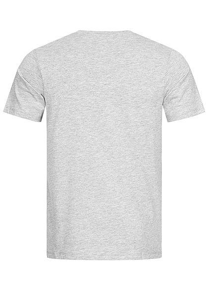 Jack and Jones Herren Crew Neck T-Shirt Logo Print hell grau melange