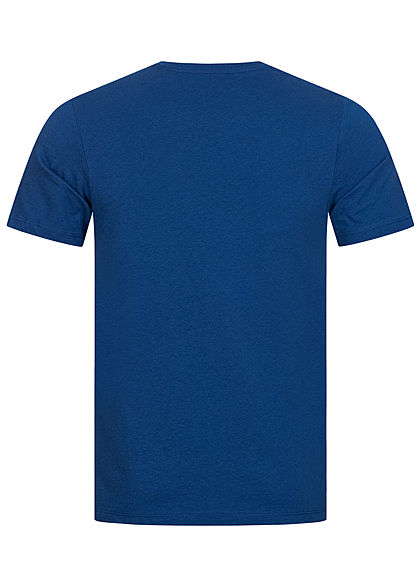 Jack and Jones Herren Crew Neck T-Shirt Logo Print navy peony blau