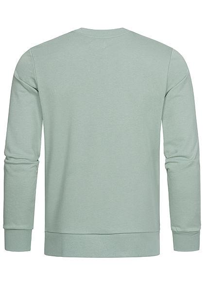 Jack and Jones Herren Crew Neck Sweater Pullover Logo Print milieu grün