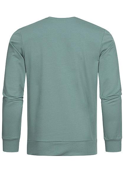 Jack and Jones Herren Crew Neck Sweater Pullover Logo Print north atlantic grün