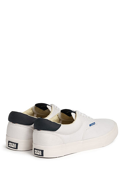 Jack and Jones Herren NOOS 2-Tone Canvas Sneaker bright weiss
