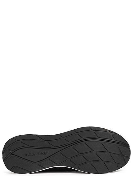 Jack and Jones Herren NOOS Schuh Running Mesh Sneaker anthrazit schwarz