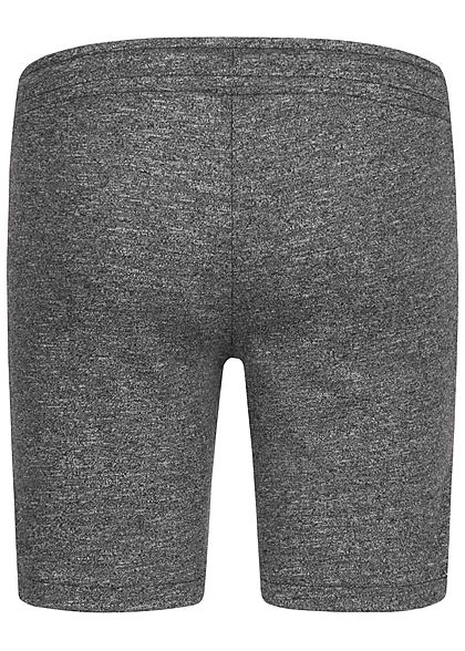 Jack and Jones Junior Melange Sweat Shorts 2-Pockets Tunnelzug pirate schwarz
