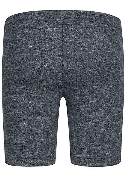 Jack and Jones Junior Melange Sweat Shorts 2-Pockets Tunnelzug sky captain blau