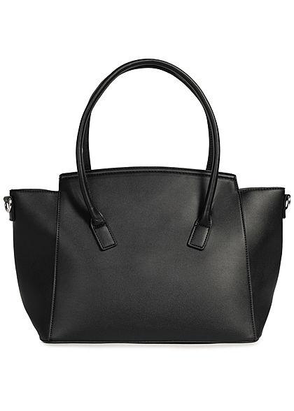 Styleboom Fashion Damen Kunstleder Handtasche 49x29cm sehr stabil schwarz