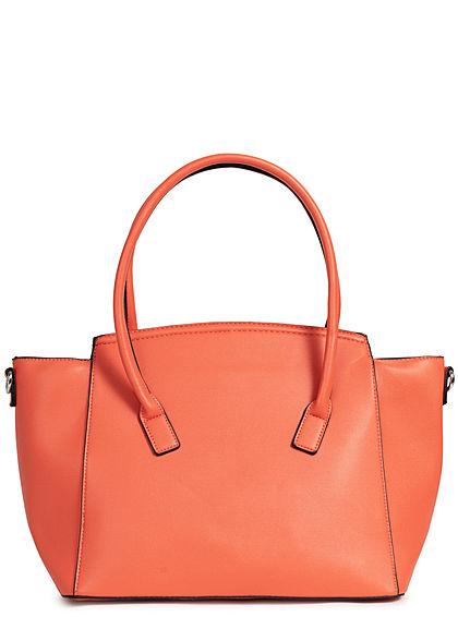 Styleboom Fashion Damen Kunstleder Handtasche 49x29cm sehr stabil orange