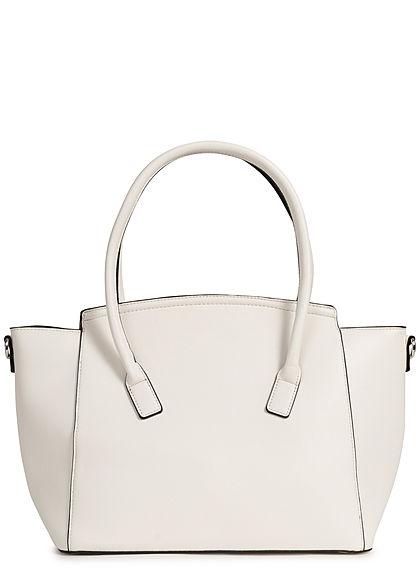 Styleboom Fashion Damen Kunstleder Handtasche 49x29cm sehr stabil weiss