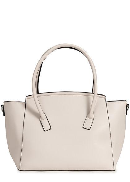Styleboom Fashion Damen Kunstleder Handtasche 49x29cm sehr stabil sand beige
