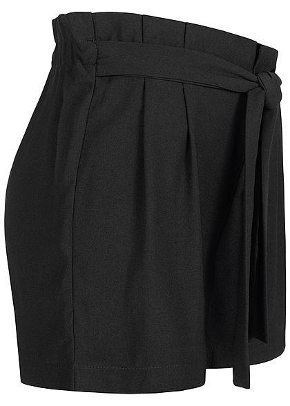 ONLY Damen Paperbag Shorts mit Taillengürtel schwarz