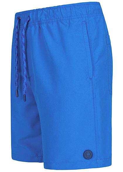 Stitch & Soul Herren Badehose Swim Shorts Gummibund mit Kordel 4-Pockets royal blau